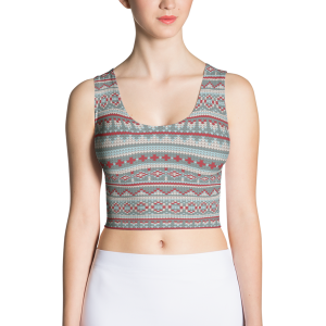 Dee Sweater Sublimation Cut & Sew Crop Top