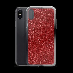 Burgundy Glitz iPhone Case