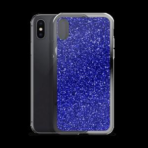 Cobalt Glitz iPhone Case