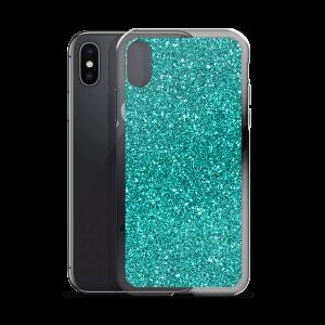 Aqua Glitz iPhone Case