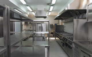 picture of an empty industrial kitchen