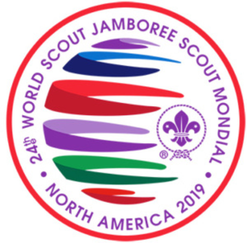 Large 2019 world scout jamboree logo circular