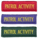 Small patrol activity badge