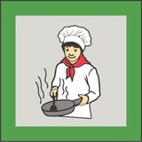 Small cooking badge