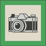 Small photography badge