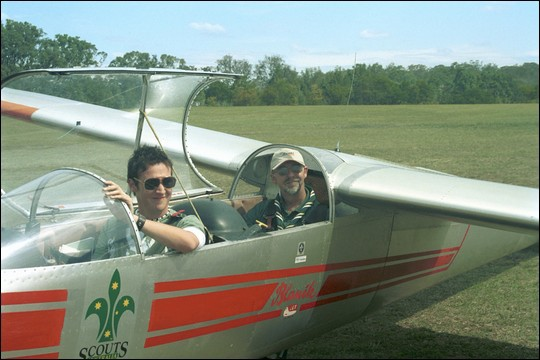 Jack with NSW Gliding Instructor Richard Nowakowski.
