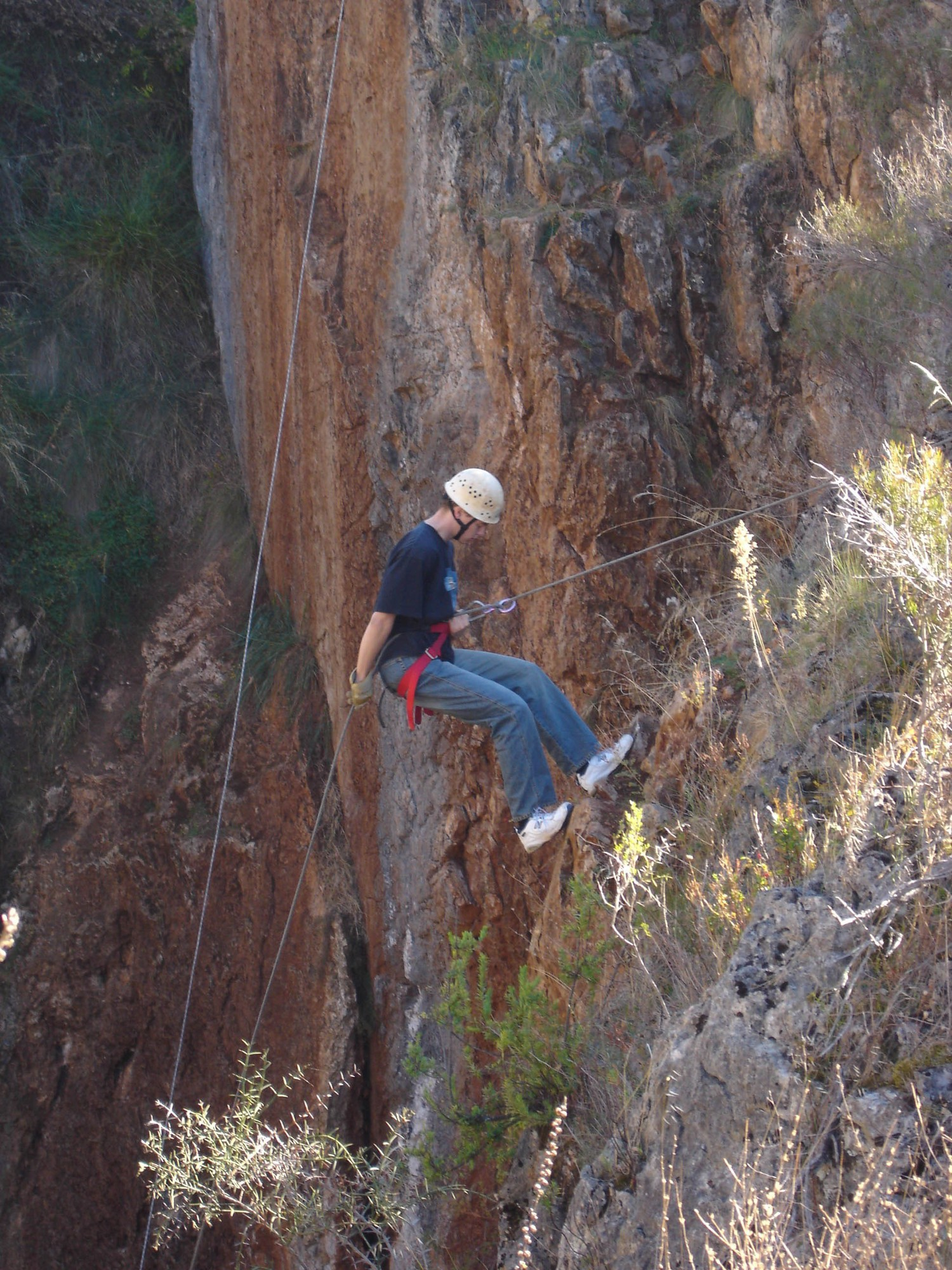 Jack abseiling