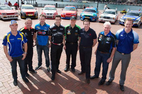 Lee Holdsworth, Russell Ingall, Will Davison, Rick Kelly, Jim Richards, Mark Skaife, Dick Johnson and George Miedecke