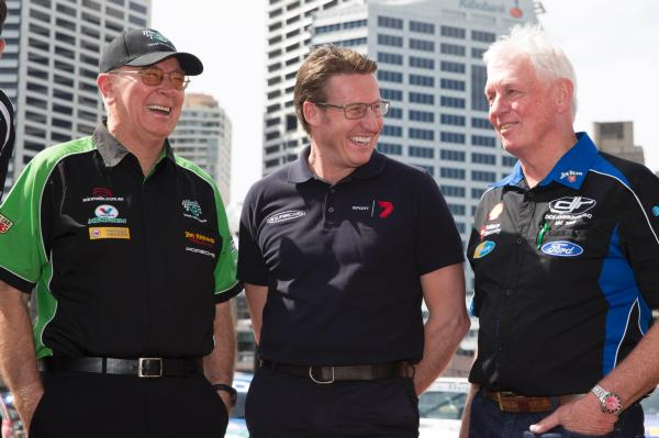 Jim Richards (left) with Mark Skaife and Dick Johnson