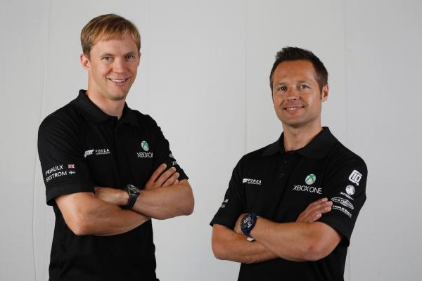 Mattias Ekström and Andy Priaulx