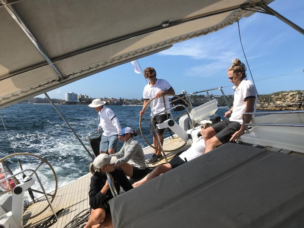 sailing at the Giant Steps Charity Regatta