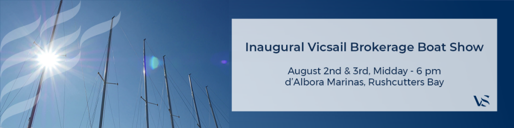 boats' masts and invitation to Vicsail Brokerage Boat Show