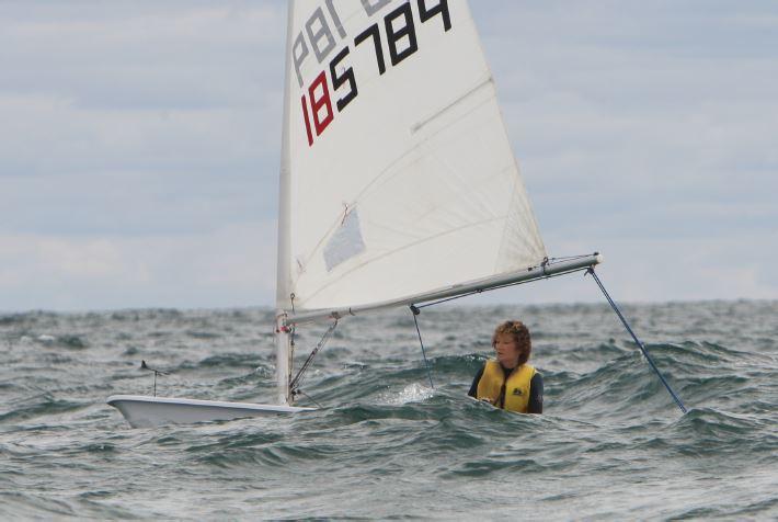 Hellen sailing her yacht