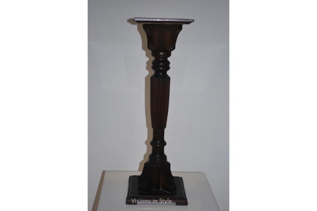 black pillar candelabra