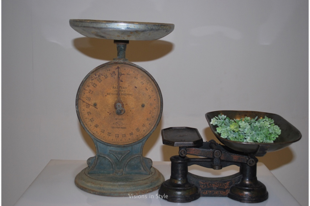 assorted vintage scales