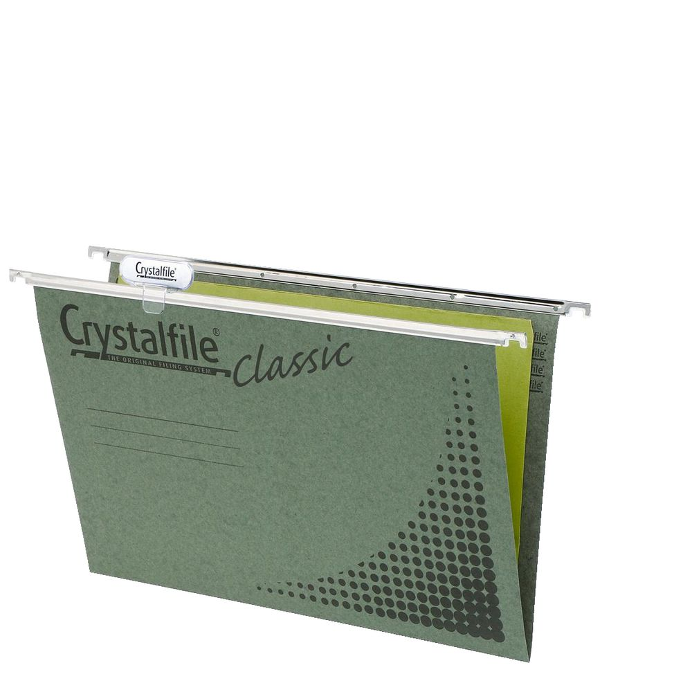 crystalfile foolscap suspension file 20 pack ebay