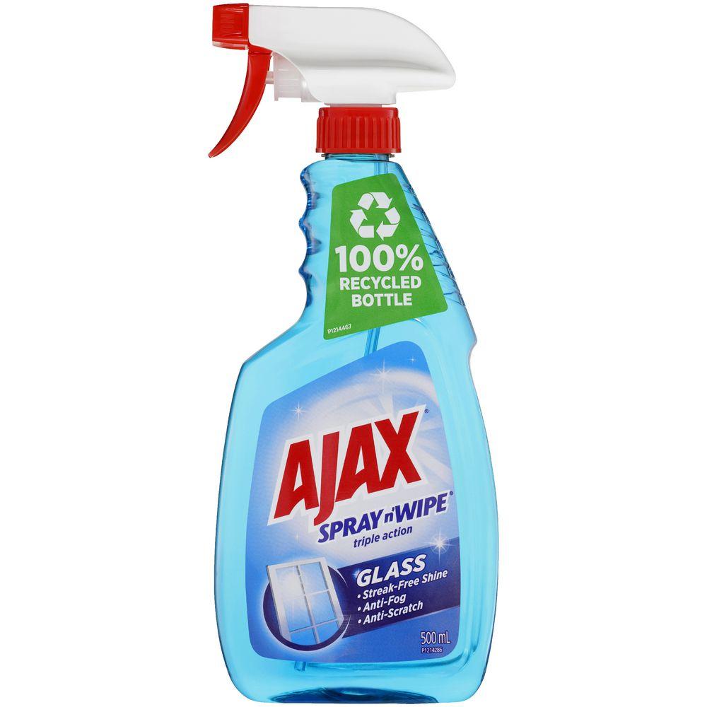 Ajax Spray N 39 Wipe Glass Cleaner Trigger Pack 500ml Ebay