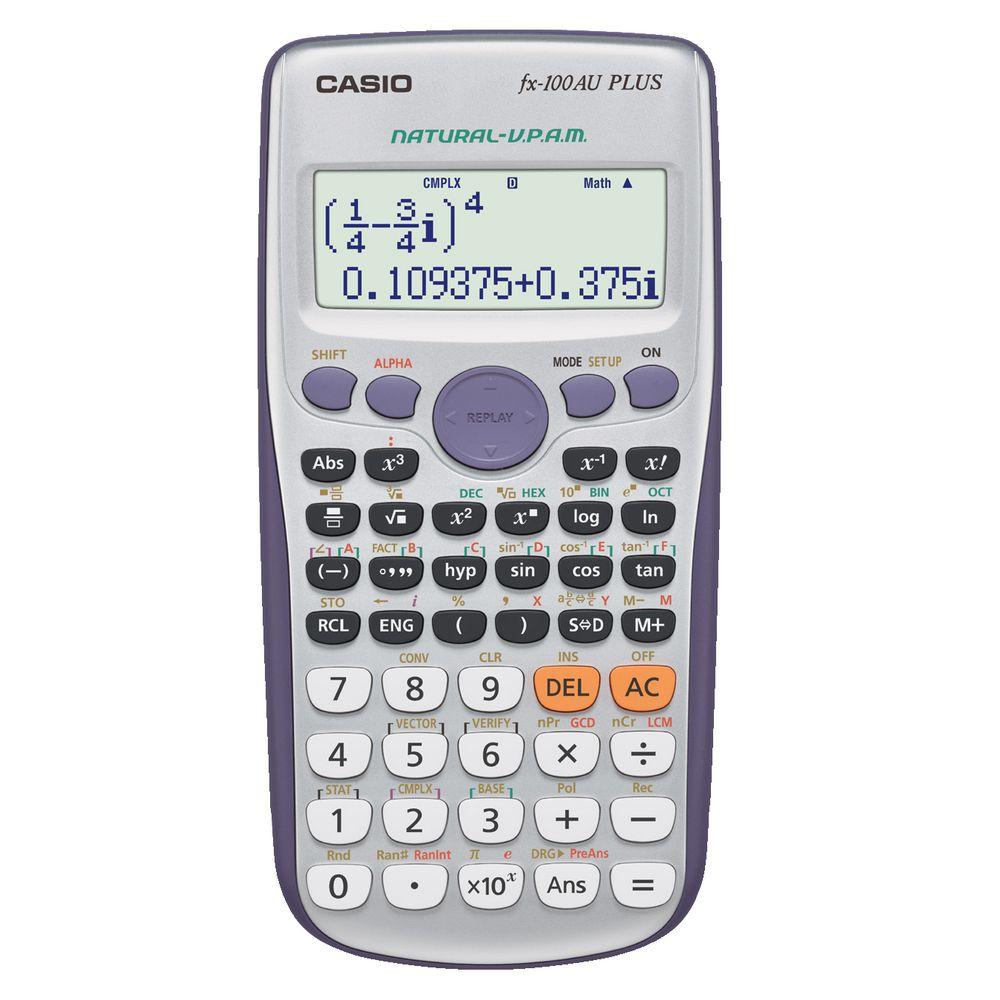 Casio Fx 100au Plus Scientific Calculator Ebay