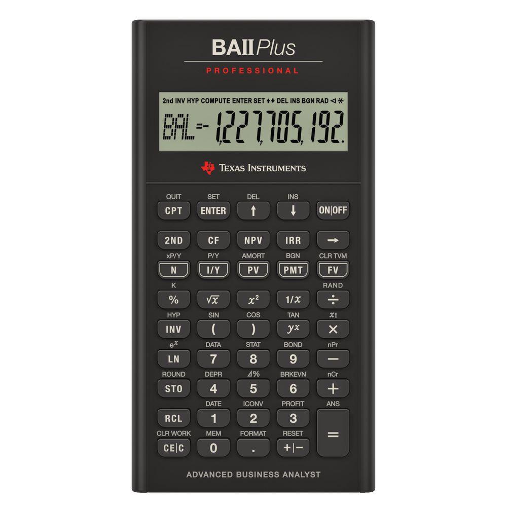 Texas Instruments BAII Plus Professional Calculator | eBay