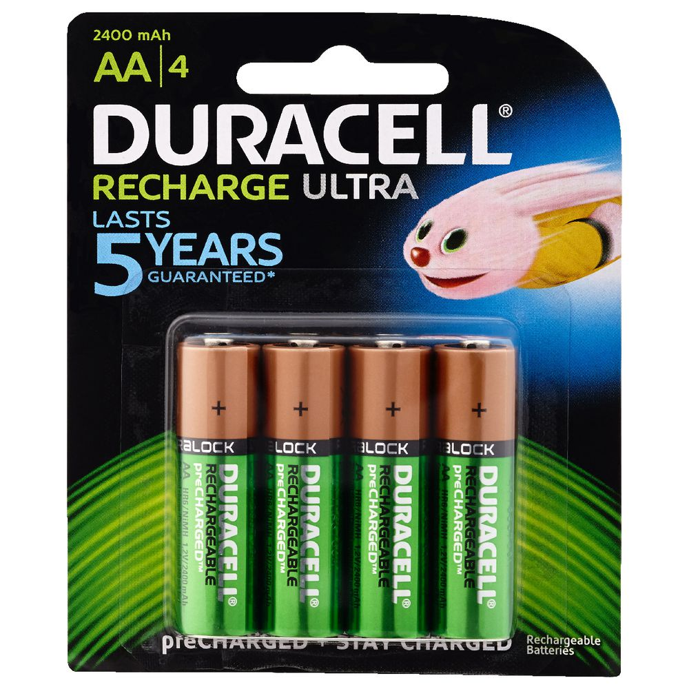 duracell aa rechargeable batteries 4 pack ebay. Black Bedroom Furniture Sets. Home Design Ideas