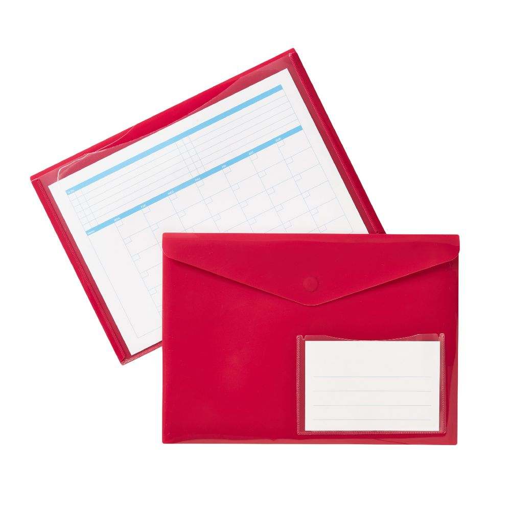 Document Wallet A4 Magnetic Closure Pink