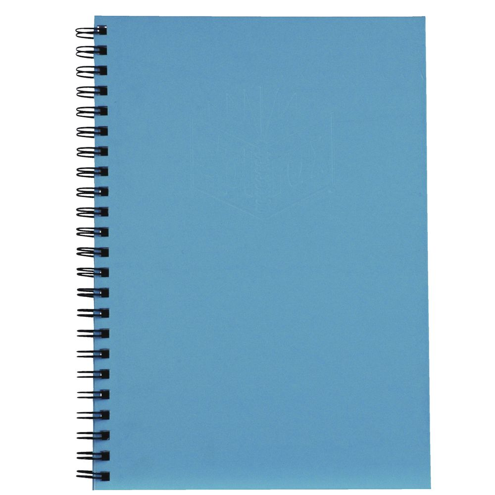 Notebook Cover Pictures : Spirax hard cover notebook a blue ebay
