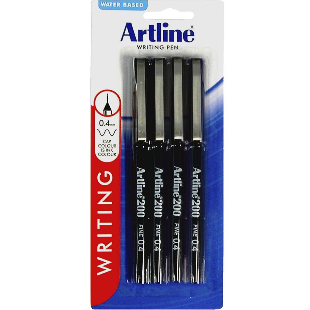 Artline : Artline fineliners black pack ebay