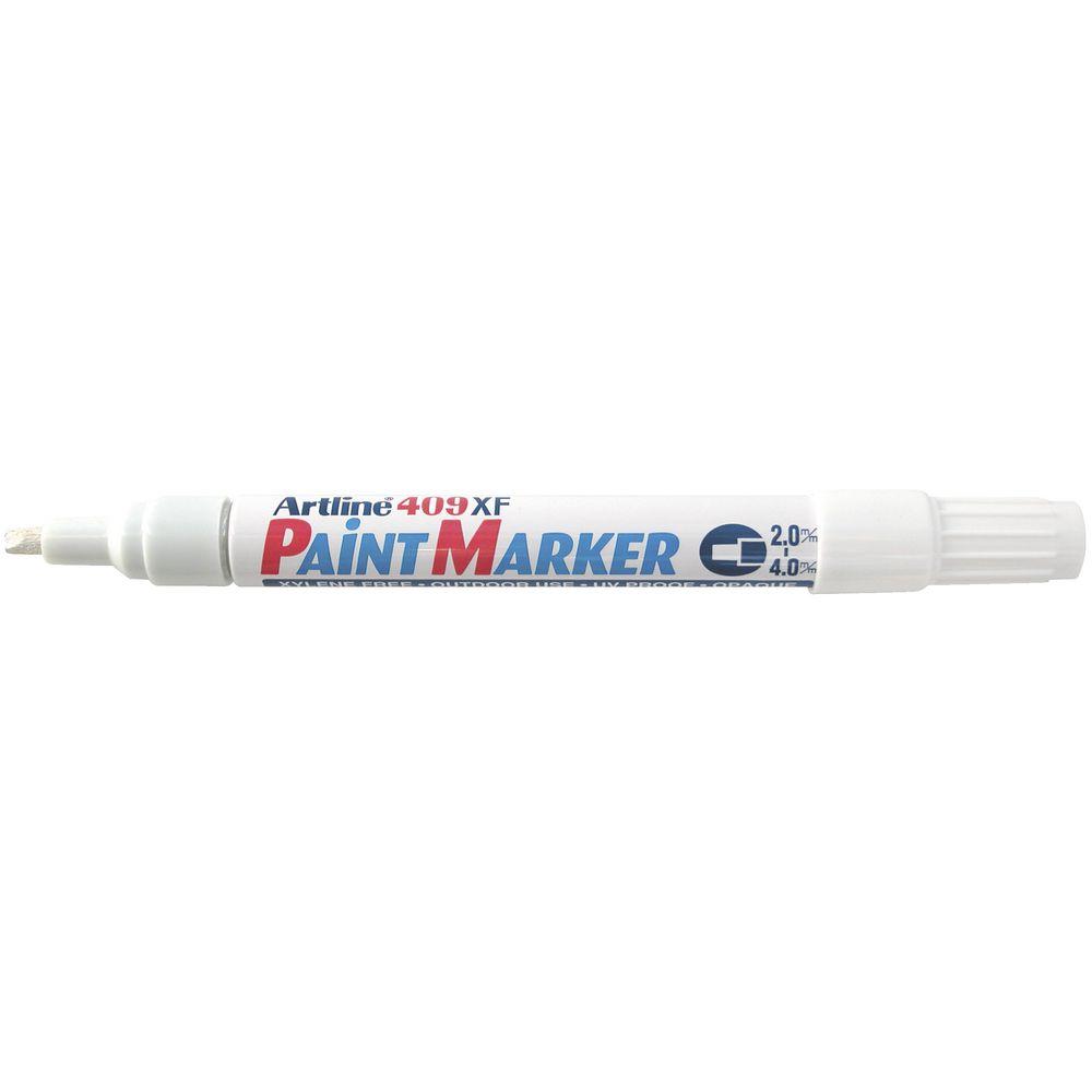 Artline 409 paint marker white ebay for White line marker paint