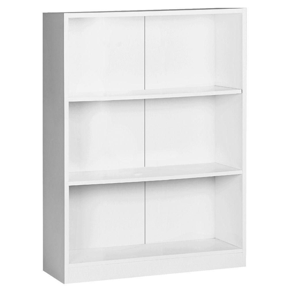 Austin 3 Shelf Bookcase White