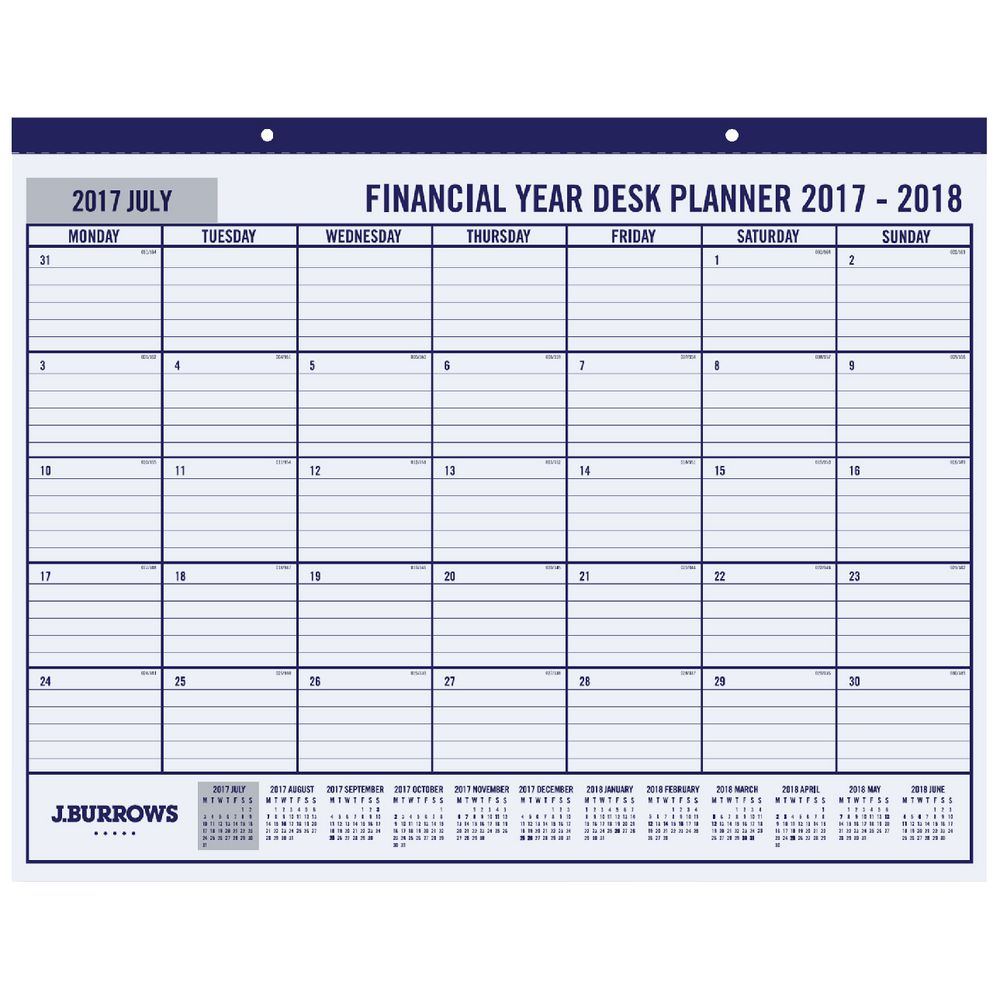 Year Calendar Officeworks : J burrows calendar year desk planner ebay