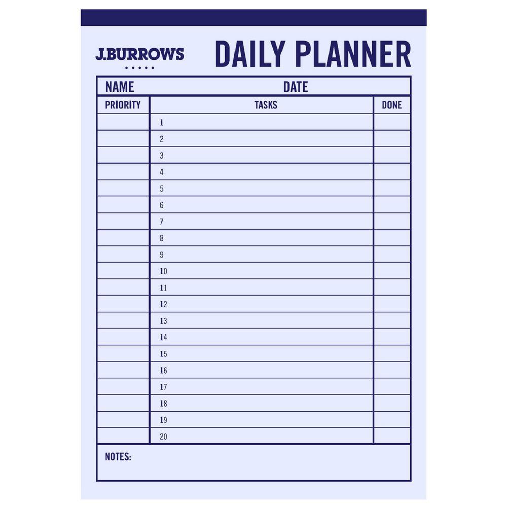 Daily Planner A4 – Calendars 2017