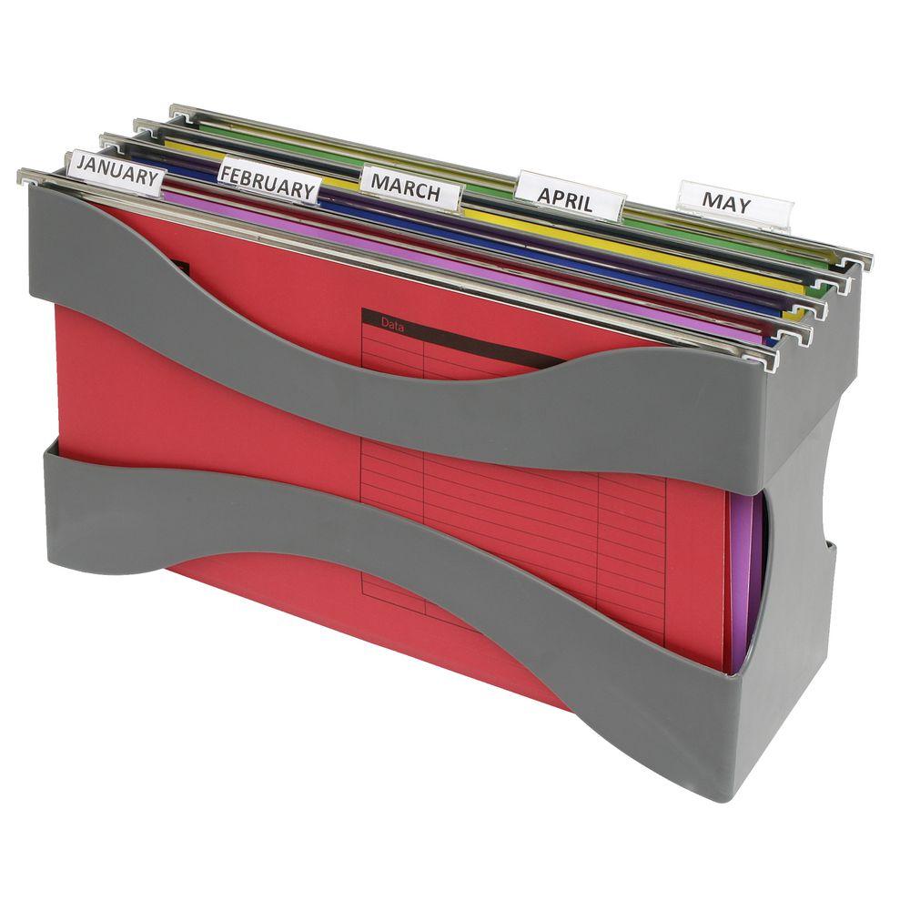 J burrows desktop filer grey - Officeworks desktop ...