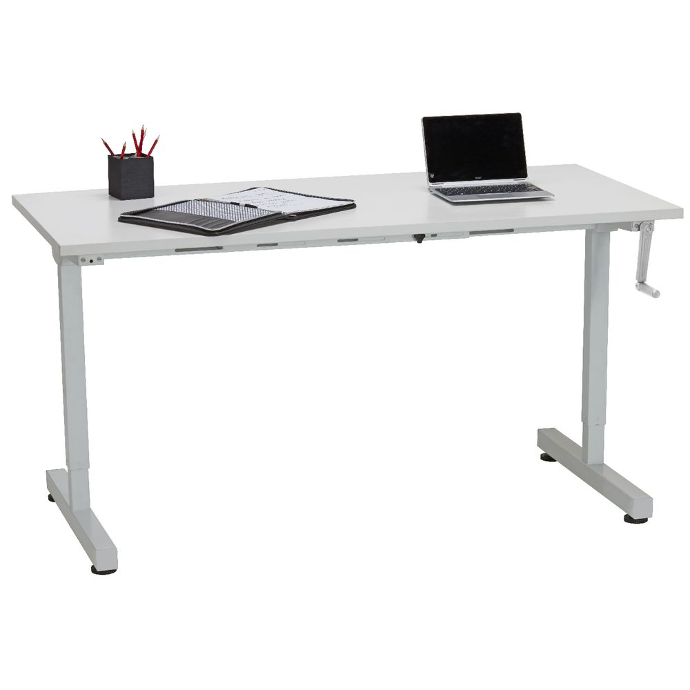 Matrix Manual Height Adjustable Desk 1500mm Manual Guide