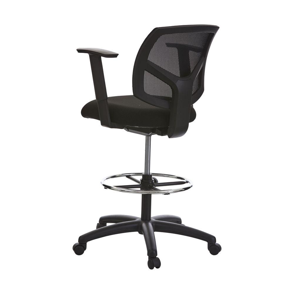 Matrix Mesh Drafting Chair Black Officeworks