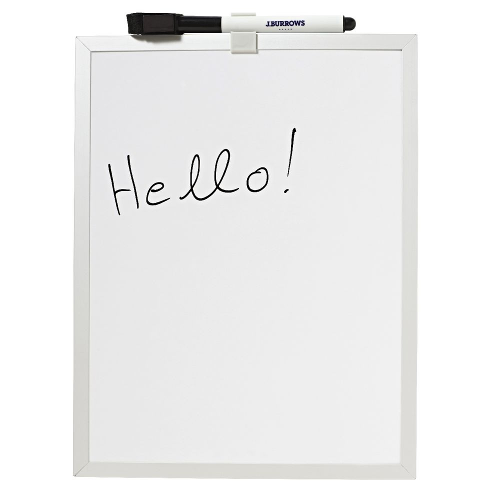J Burrows Aluminium Frame Magnetic Whiteboard White Ebay