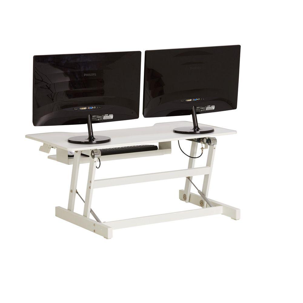 Wynston Sit Stand Desk Large White Officeworks
