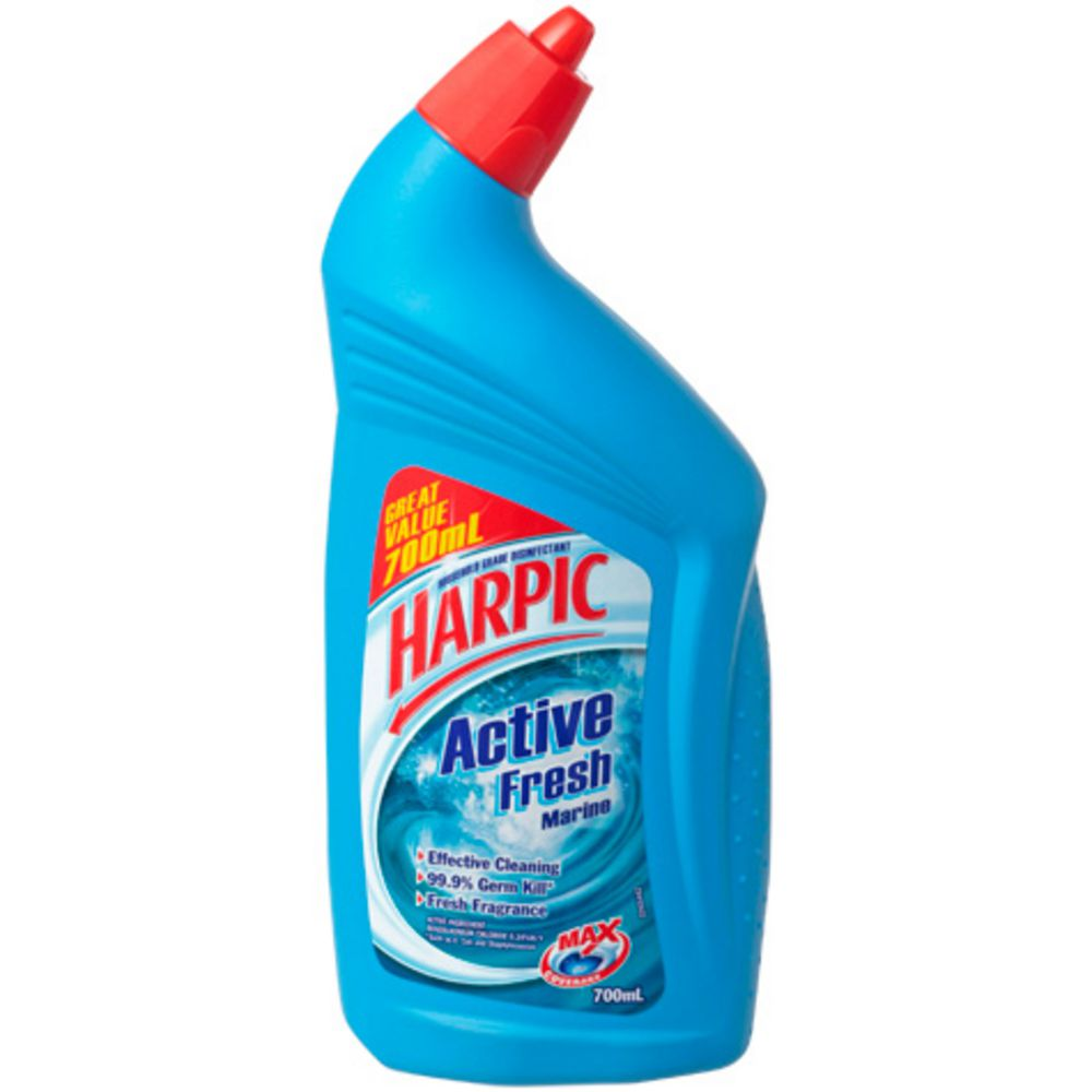 Harpic Bathroom Floor Cleaner : Harpic active fresh toilet cleaner marine ml