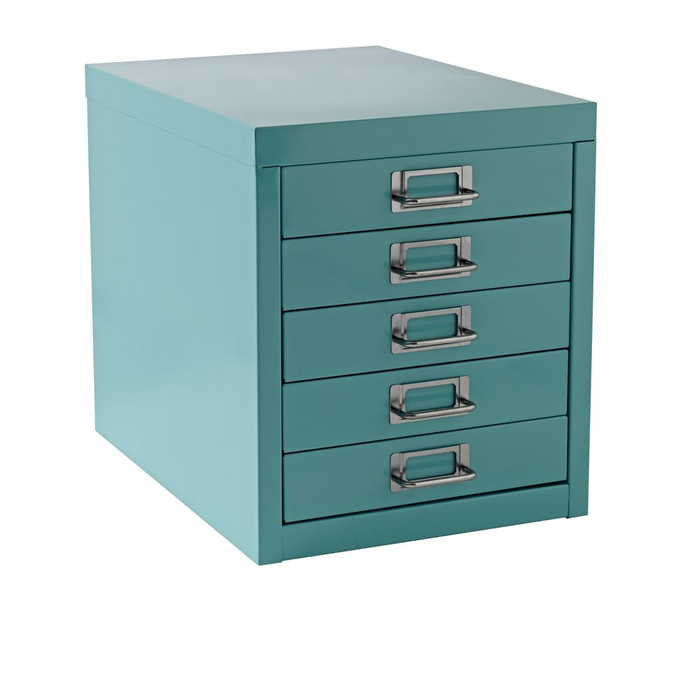 New A4 Drawer Mini Filing Unit Blue 5 Storage Cabinet