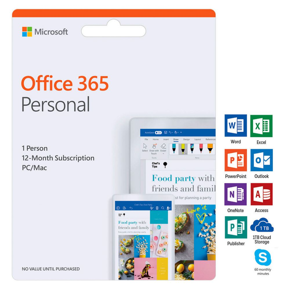 Microsoft office 365 personal 1 device 12 months card ebay - Installer office 365 personnel ...