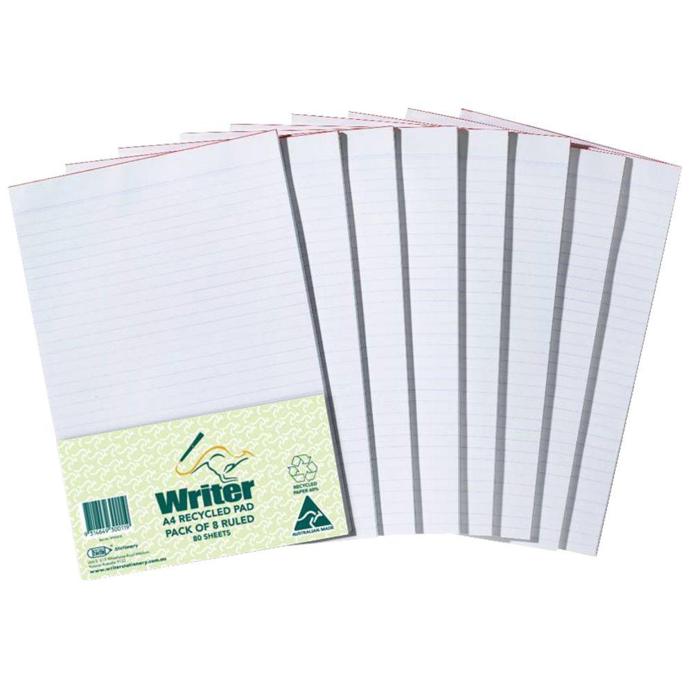Custom printed writing pads