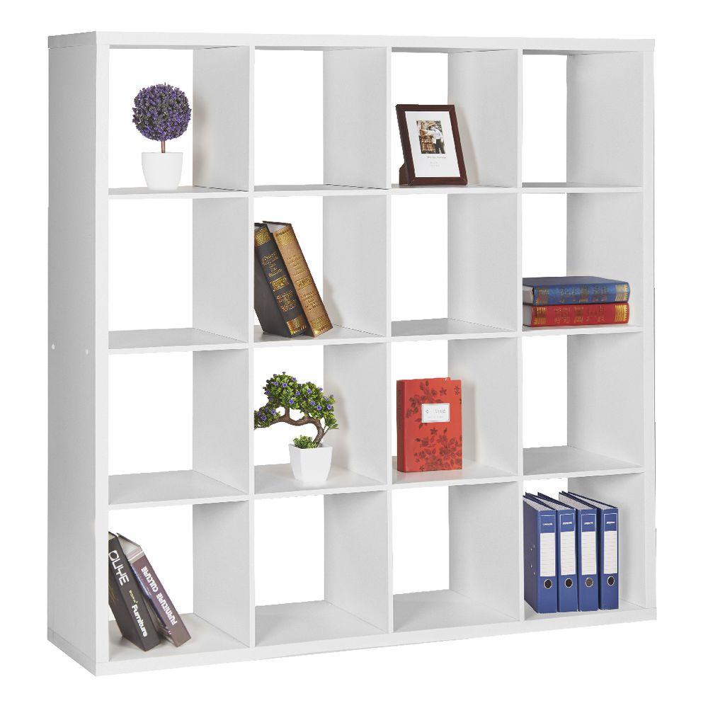 Horsens 16 Cube Bookshelf White | eBay