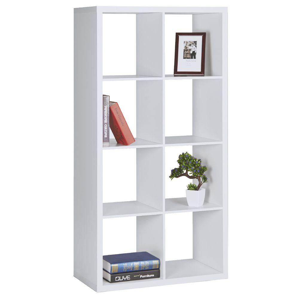 Horsens 8 Cube Bookshelf White Ebay