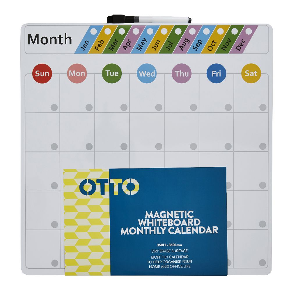 Monthly Calendar Board : Otto magnetic monthly calendar board cm