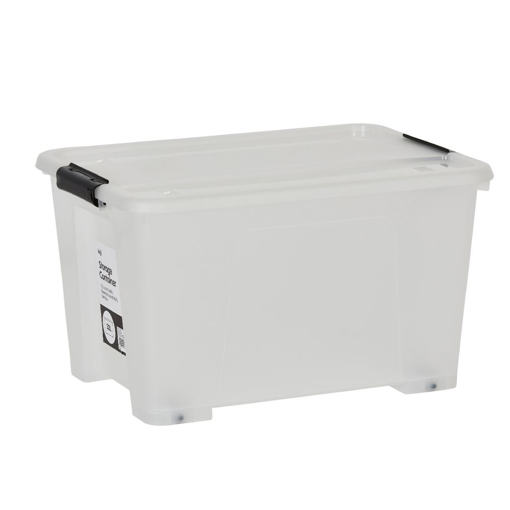 keji 32l plastic storage container clear