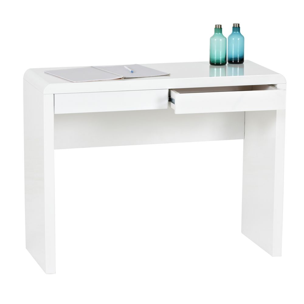 white desk with 2 drawers arc 2 drawer desk white