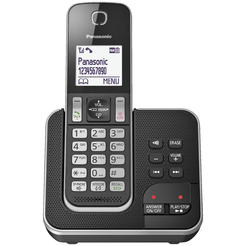 Panasonic Cordless Phone With 1 Handset Kx Tgd320alb Ebay