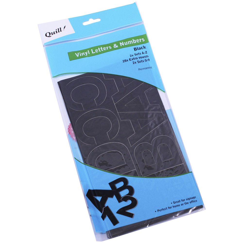 quill poster board vinyl stickers black 100 pack ebay