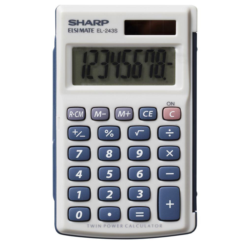 Sharp El243s Pocket Calculator Ebay