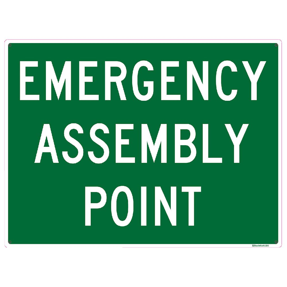 Sandleford Emergency Assembly Sign 450 x 600mm | Compare Club