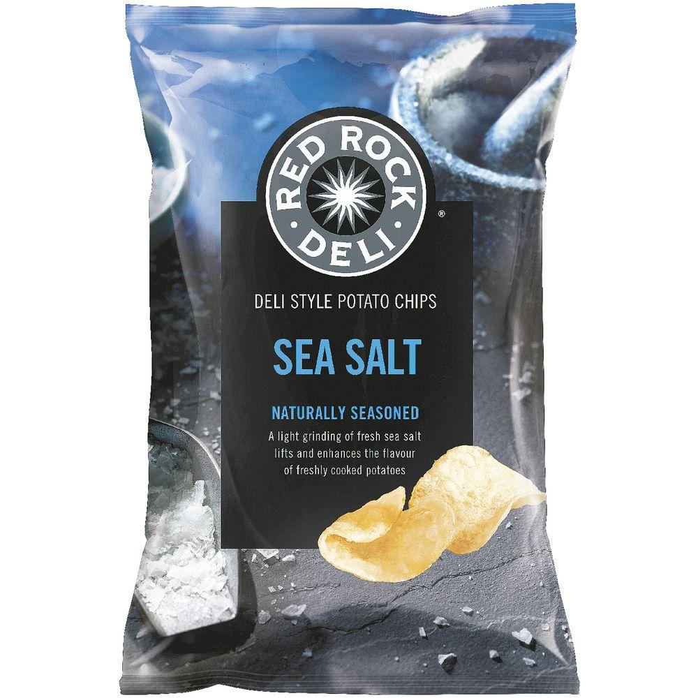 Red Rock Deli Sea Salt Chips 165g Ebay